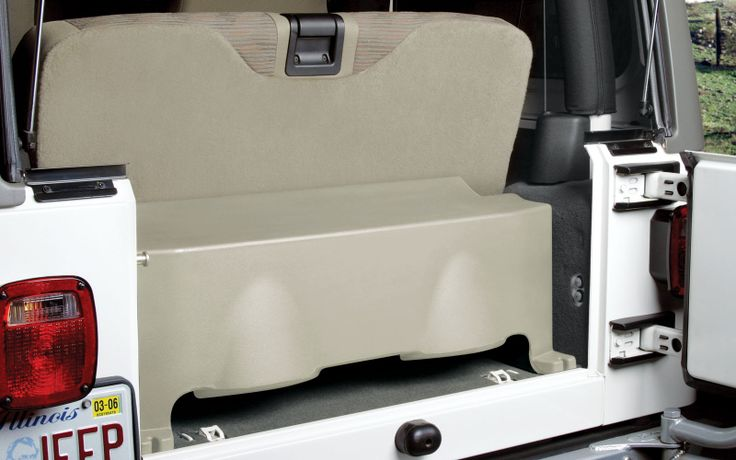 """MTX Audio Vehicle Specific Custom Subwoofer Enclosure for 1997-2006 Jeep Wranger TJ 2dr. Available in Tan or Charcoal. Dual 10"""" subwoofers. Made in USA."""