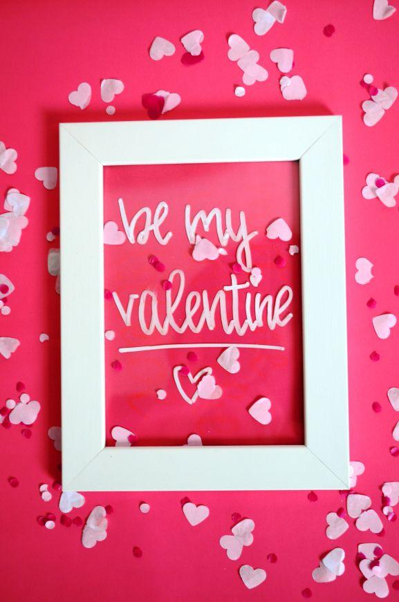 DIY Deko für Valentinstag, DIY Geschenk zum Valentinstag, selbst gemacht,  Anleitung, tutorial