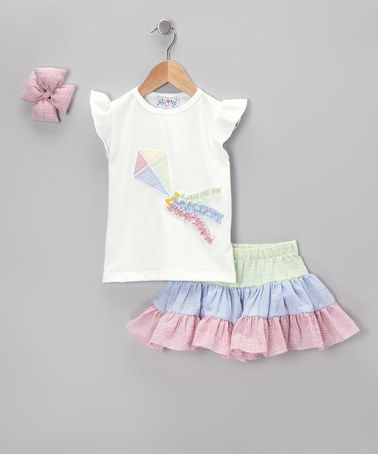 Kite Seersucker Skirt Set - Infant by Molly Pop Inc. on #zulily today! Kite party