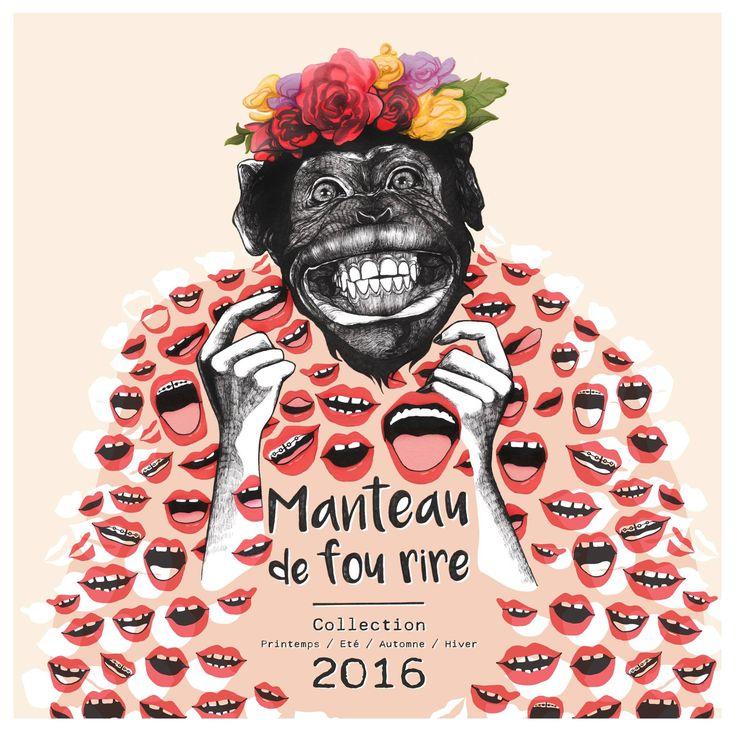 Manteau de Fou rire collection 2016 / Carte de voeux / Illustration Clémence Thienpont