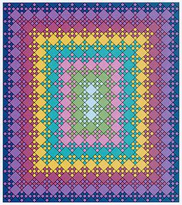 blooming nine patch layout quilting