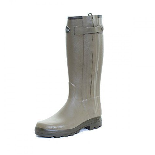 Le Chameau Footwear Men's Chasseur Cuir Rain Boot, Vert Verizon, 42 EU/9 M US * Find out more about the great product at the image link.