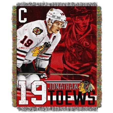 NHL Player Woven Tapestry Throw, Black