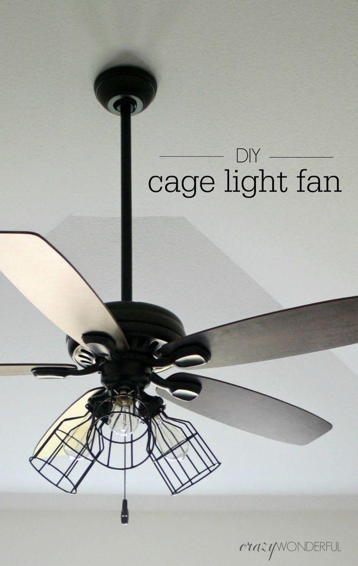 Best 25 Caged Ceiling Fan Ideas On Pinterest Industrial