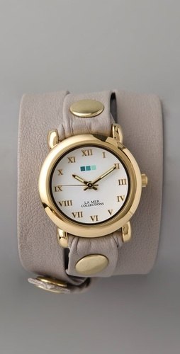La Mer Collection Nude Wrap Watch $88