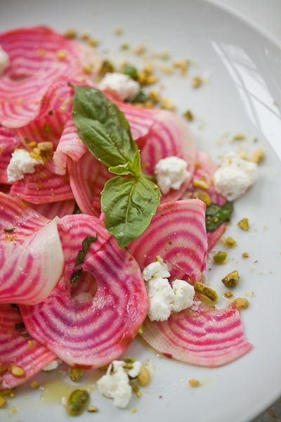 Beets, Pistachio & Goat Cheese Salad #food #recipe #yum