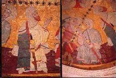 Pinturas sobre cuero, Sala de los Reyes