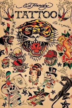 Image result for ed hardy clock mermaid