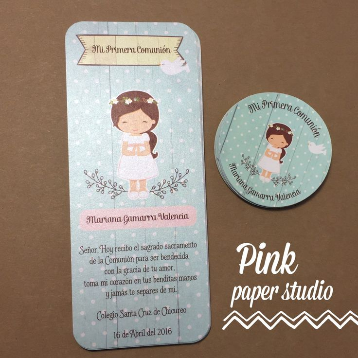 First Communion Favor Card & stickers