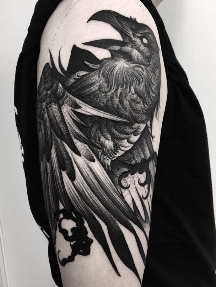 25 beautiful crow tattoos ideas on pinterest raven. Black Bedroom Furniture Sets. Home Design Ideas