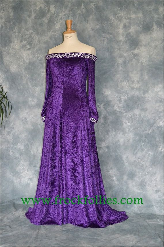 Medieval Gown Elvish Dress Pagan Wedding Dress by frockfollies