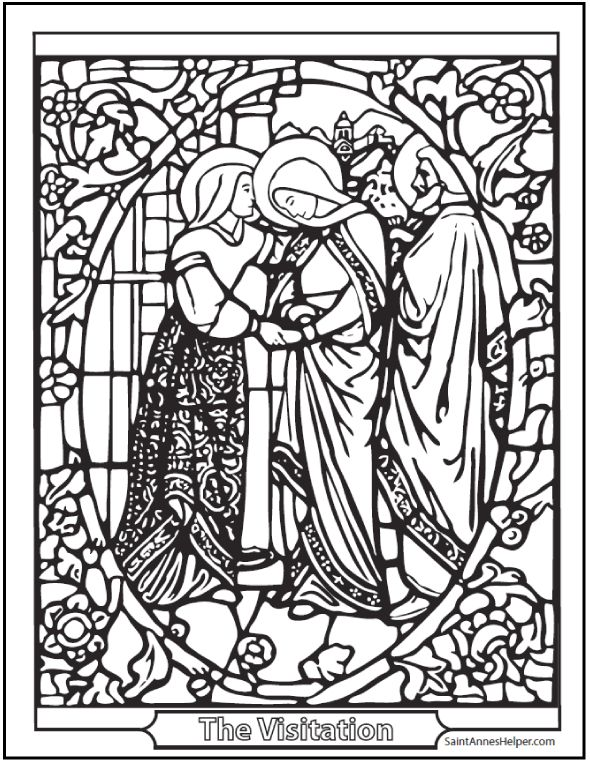 Lovely Catholic Coloring Pages