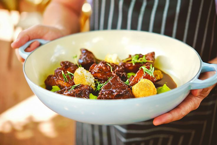 Sustainable lamb stew at Peddlars & Co's Volare. Steamy and hearty for the winter wetness.