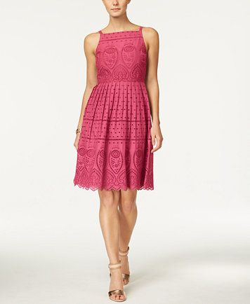Charter Club Cotton Lace Halter Dress Only At Macy S