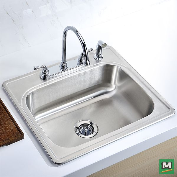 accommodate oversized dishes with the tuscany singlebowl kitchen sink stylish yet functional this sink is constructed of 20gauge stainless steel thatu0027s