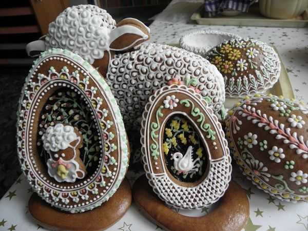 velikonoce - Gingerbread Easter eggs