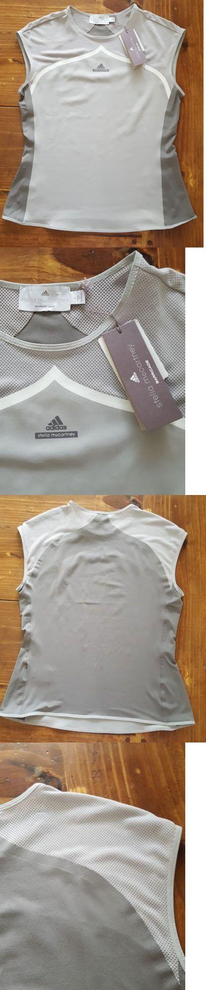 Women Athletics: Adidas Stella Mccartney Barricade Tennis Top Gray Mesh Fitness Size L Nwt -> BUY IT NOW ONLY: $39.95 on eBay!