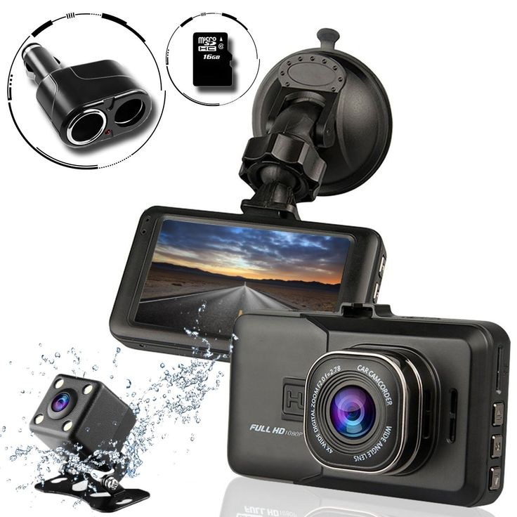 Ampulla Sentry HD Dash 170° Wide Angle Cams for Cars with 6GB Micro SD Card & 2-Socket Plug. ★ FULL HD 1080P - Sentry Dash cameras for cars have Full-HD video resolution 1920*1080, using H.264 photography compression technology and Smooth Image Processing. Superior night-vision by class A lenses,and unique Wide Dynamic Range (WDR) video system. Crystal clear full high definition video quality,high video quality even when driving at night. ★ LOOP RECORDING - Seamless Loop Recording system...