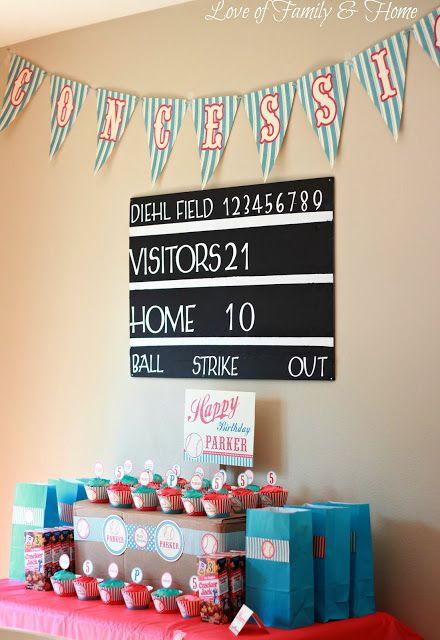 DIY Baseball Themed Birthday Party