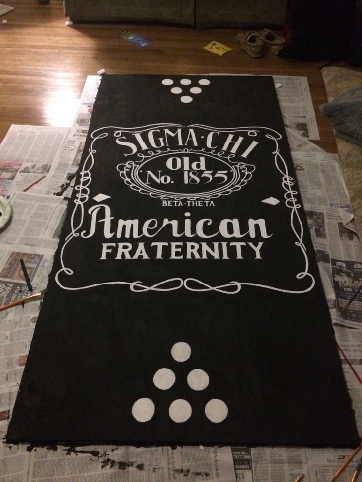 Delta Phi Epsilon's pong table for Pitt Sigma Chi Derby Days 2015