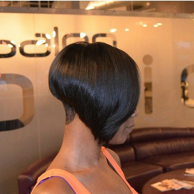 Edgy tapered bob sew in!!!!!#ATLANTASTYLIST #ATLANTAHAIR #BALTIMORESTYLIST…