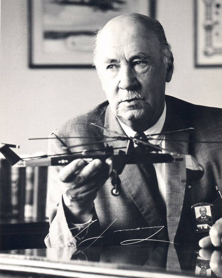 Igor Sikorsky - First engineer to design a successful 4-engine airplane, and the helicopter