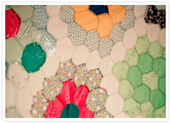 quiltedDecor, Vintage Quilt, Colors, Montauk Wedding, Layer Cakes, Quilt Canopies, 100 Layered Cake, Blog, Hexagons Quilt