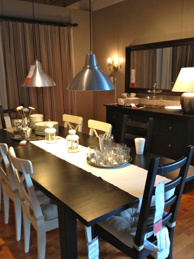 Ikea dining table!! We want this table!! New home!! Cant wait.