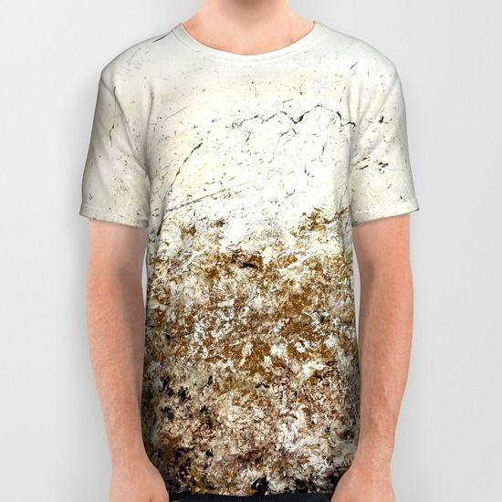 Gold and silver contemporary Japanese abstract unisex T-shirts for men and women by Vinn Wong | Full collection vinnwong.com | International Shipping | Visit the shop or Pin it For Later!