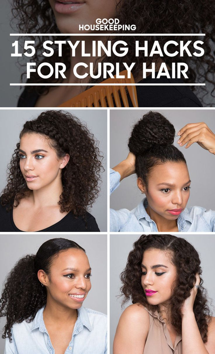 "Anyone with curly hair has heard at least one person with straight strands lament, ""Your hair is so pretty, I wish I had curly hair!"" It's meant to be a compliment, but having a good curly hair day is harder than it looks. Good news is you're in the right place to get your easiest, healthiest hair routine ever. First, these simple tips will keep waves and curls looking shiny and strong. Then, advance to eight easy hairstyles you can whip out before the morning coffee's ready. Click through…"