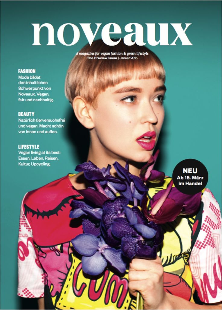Cover of the preview issue for the Ethical Fashion Show 2015 in Berlin   #vegan #fashion #magazine #cover #ecofashion #fairfashion #green #lifestyle