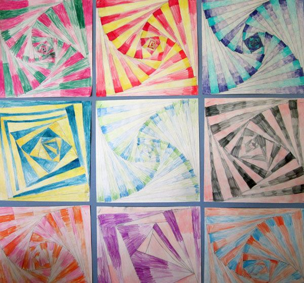 Op Art via Middletown Public Schools.  Thinking about adapting it to 5th grade.