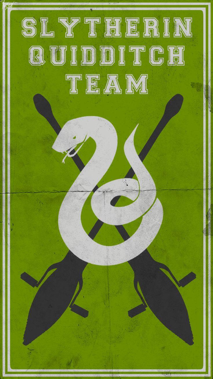Quidditch Team Poster: Slytherin by TheLadyAvatar.deviantart.com on @deviantART