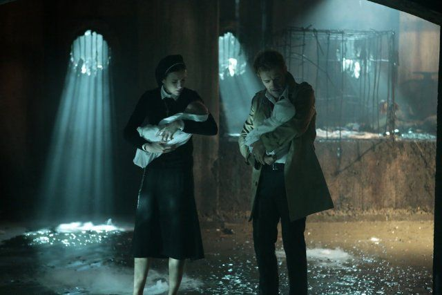 stills from Constantine tv show | Still of Matt Ryan and Claire van der Boom in Constantine (2014)