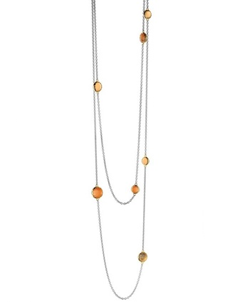 Ti Sento 3799 Orange Cat's Eye 35.4 In. Necklace Available at: www.always-forever.com