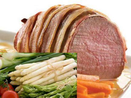 Exquisita carne salseada. Para una ocasión particular.
