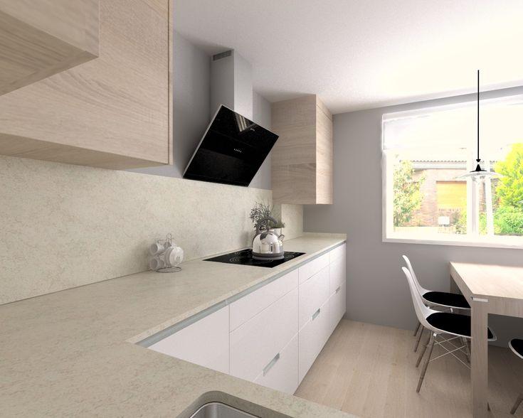 Las 25 mejores ideas sobre cocina de granito blanco en - Encimera granito blanco ...