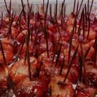Bacon Wrapped Water Chestnuts: 2, 8oz cans whole water chestnuts, 1 lb bacon, 1cup bbq sauce. Preheat oven to 375 Cut bacon sclices in half, wrap around water chestnut, secure w/ toothpick, place them all in 9x13 baking dish. Bake 10-15 min. Remove from oven and drain some of the grease out, pour bbq sauce over the wraps. Bake for 30-35 min more. YUM!!!!