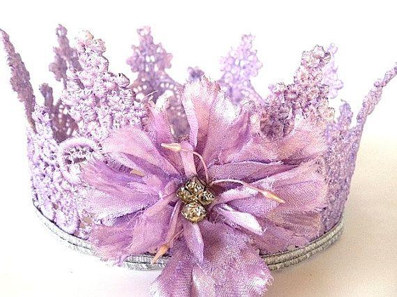 Purple Lace Crown - Photo Prop Decoration
