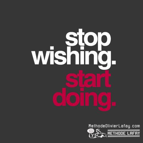 Arrêtez d'espérer, faites ! Fitness motivation quotes citations  #motivation #musculation #fitness #methodelafay www.methodeolivierlafay.com