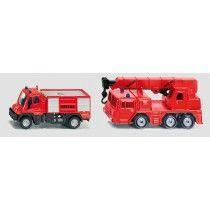 Γερανός πυροσβεστικής & φορτηγό