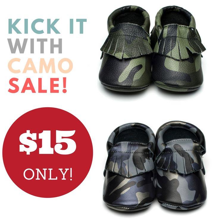 SALE SALE SALE! Leather camo moccs are $15CDN!