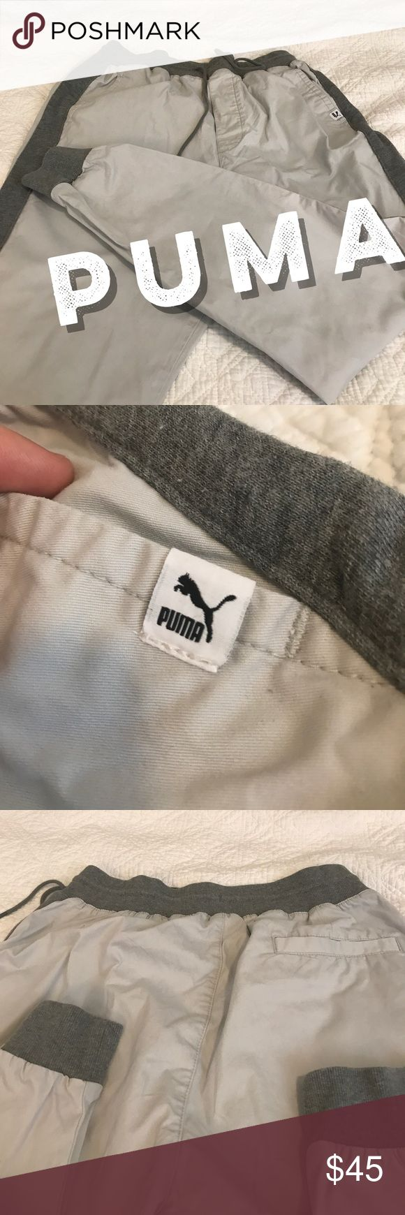 Puma sport lifestyle pants // good condition Puma pants worn a few times, in good condition. Weird mark pictured above. Puma Pants Sweatpants & Joggers