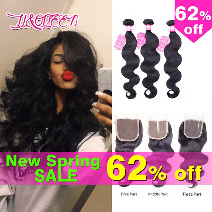 Hair Weft Closure ( Bang) Brazilian Virgin Hair With Closure Body Wave With Closure Rosa Hair Products With Closure Brazilian hair bundles with closure ** AliExpress Affiliate's Pin. Clicking on the image will lead you to find similar product