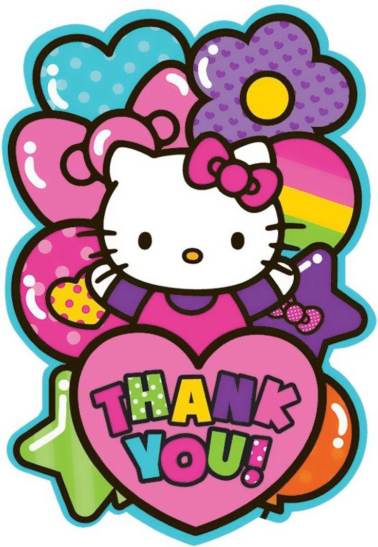 Hello Kitty Rainbow Thank You Notes (8) from BirthdayExpress.com