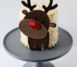 Gâteau de Noël Rudolph le petit renne au nez rouge - Rudolph the red nosed reindeer chritmas cake