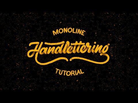 Hand Lettering Tutorial for Beginners | Monoline - YouTube