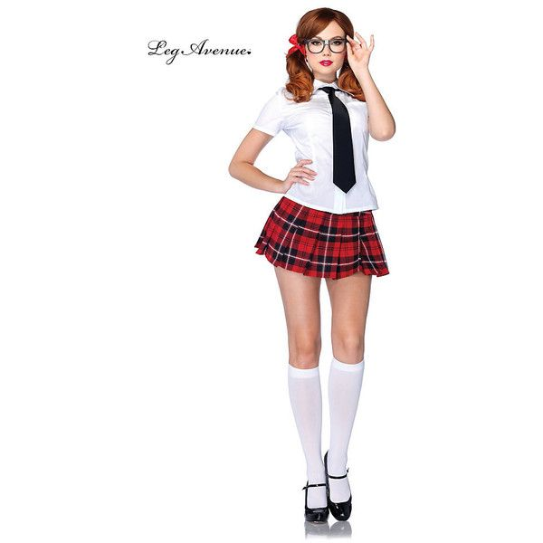 Sexy Private School Sweetie School Girl Costume for Women (63 AUD) ❤ liked on Polyvore featuring costumes, halloween costumes, multicolor, ladies costumes, sexy school girl halloween costume, neck ties, womens halloween costumes and leg avenue costumes