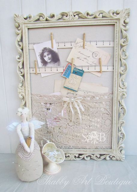 a little bit of granny chic, crafts, home decor, repurposing upcycling, The frame was painted with a homemade paint with a chalky finish and then antiqued for a vintage look