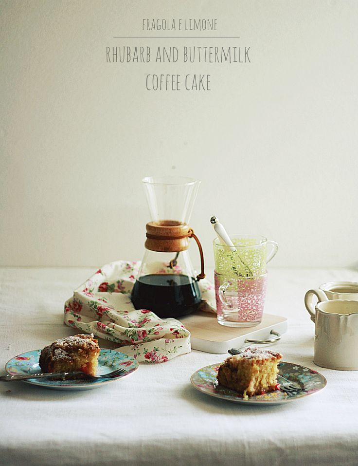 Rhubarb and buttermilk coffee cake